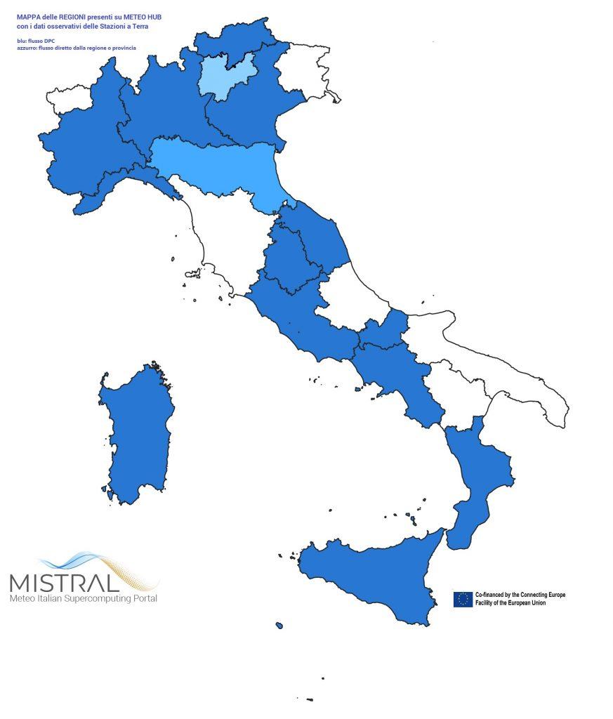Mappa Italia con regioni